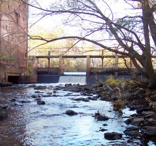 Baker Dam on the Neponset River, at Lower Mills.