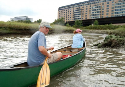 Paddling the Neponset Estuary, September 2009. Photo: Tom Palmer.