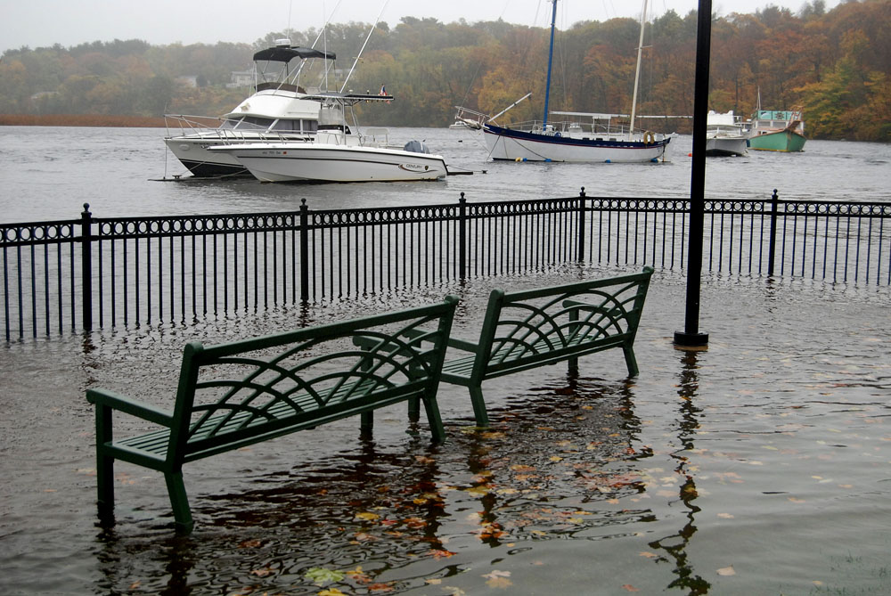 Flooding at Milton Landing, October 2012. Photo: Tom Palmer.