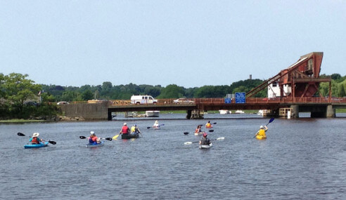 Paddling the Neponset Estuary, June 23, 2013.