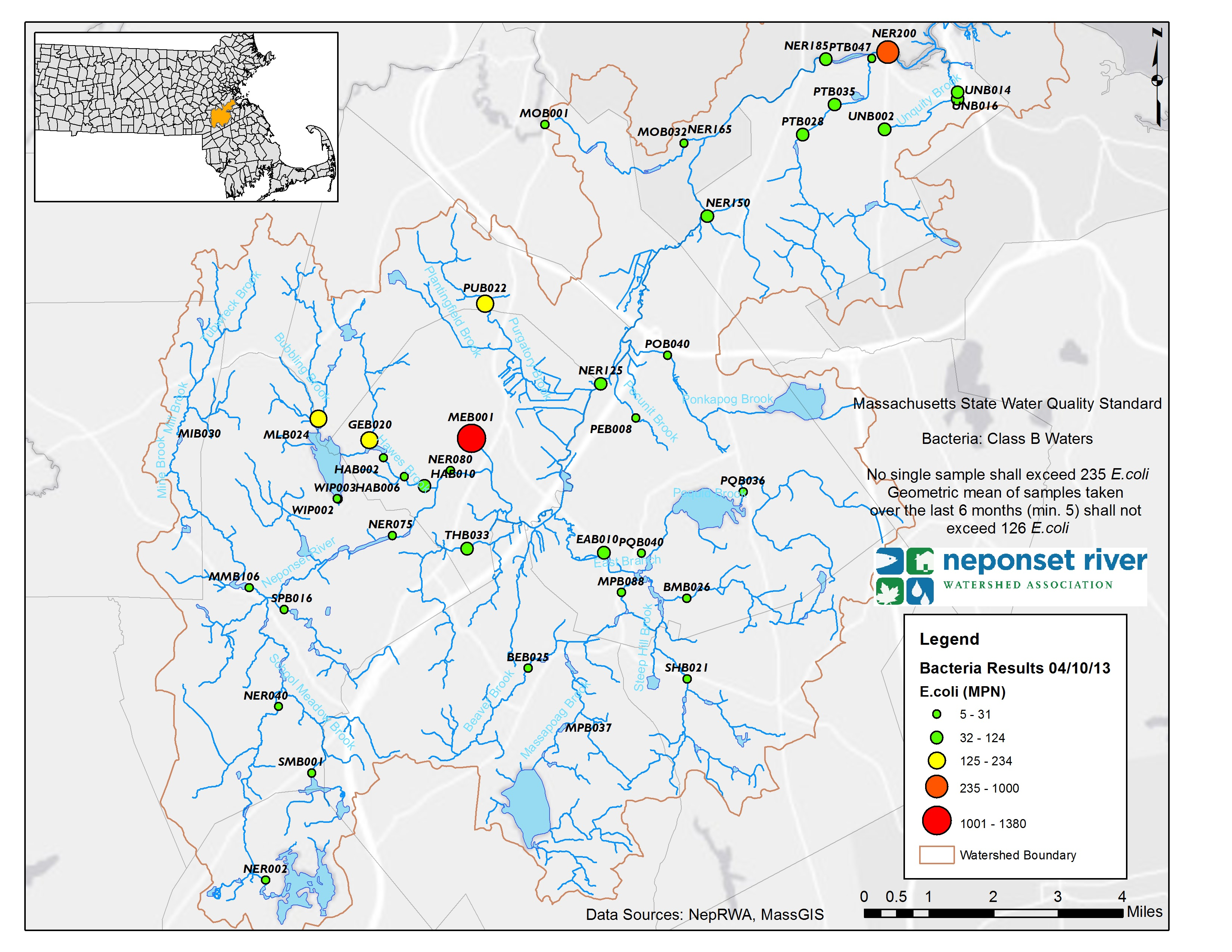 Water Quality Results - Neponset River Watershed AssociationNeponset