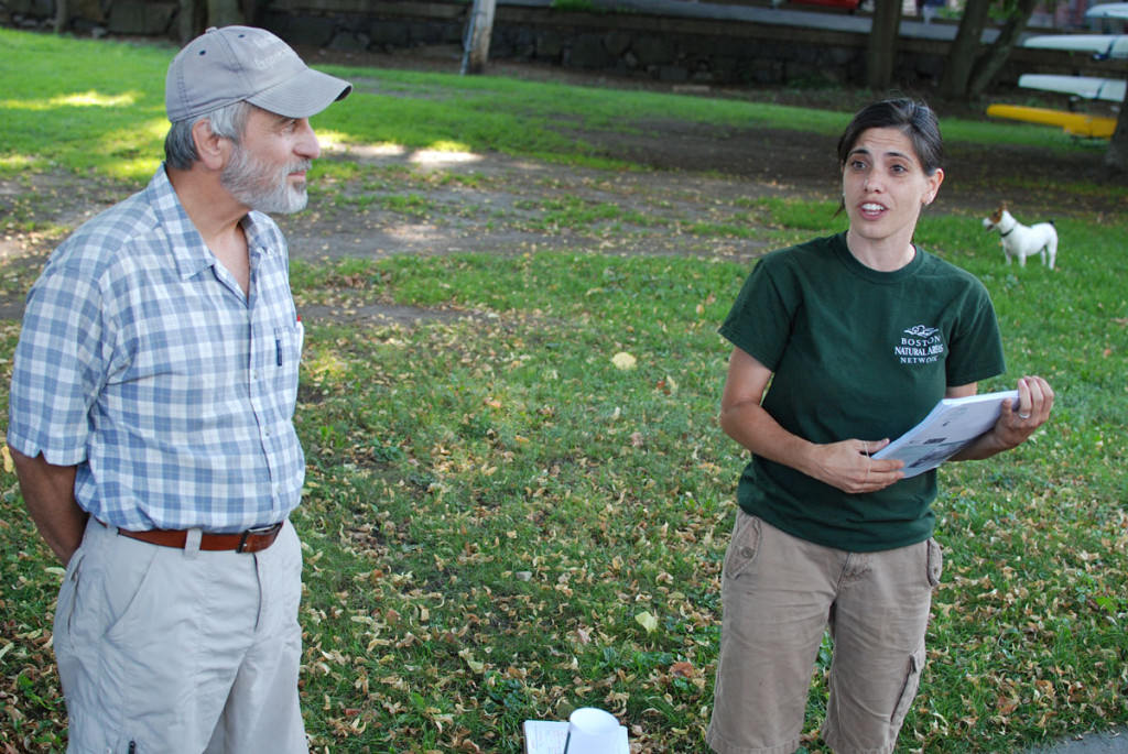 Les and Candice Cook of Boston Natural Areas Network at Milton Landing