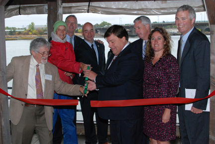 Quincy RiverWalk ribbon cutting for web