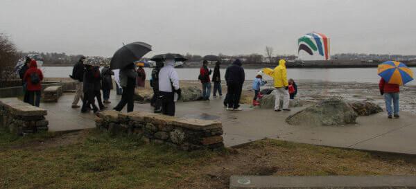 rainy riverwalk event