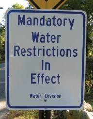 Water Restriction Sign